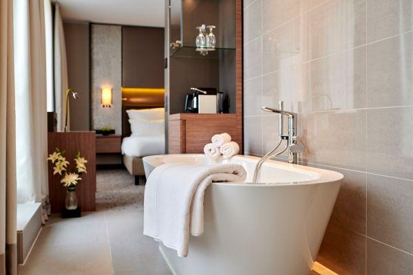 Ensemble de 4 serviettes d'hôtel de luxe Hanse